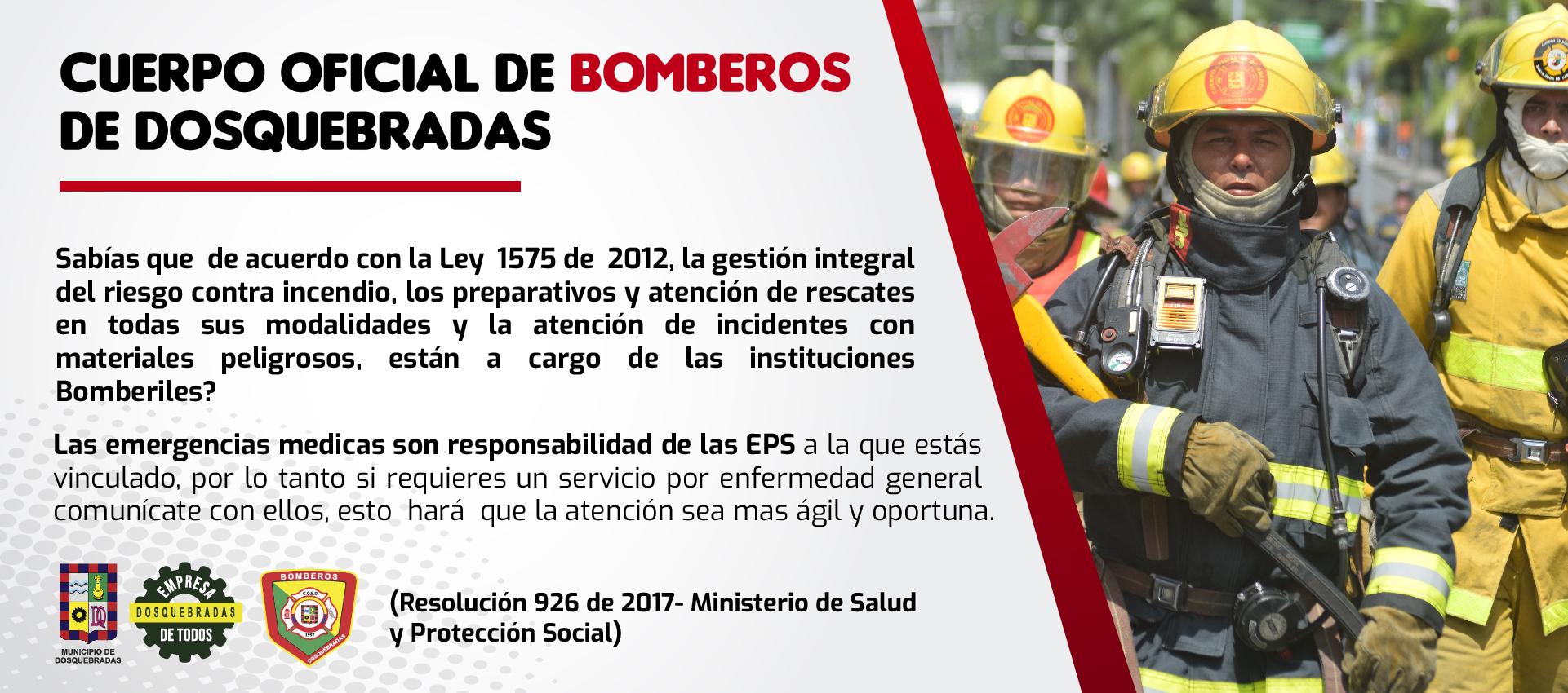 Las emergencias medicas están a cargo de las EPS
